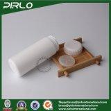 60mlプラスチックタルカムパウダーは純粋で白いバケツの形の粉のびんを震動させる