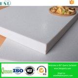 Bancada projetada branca de superfície da cozinha de quartzo da rocha