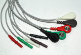 Cabo do tronco ECG do RUÍDO 5 de Datascope 6pin Snap&Clip