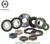 La resina continua del borde Metal-Pega la rueda Seco-Que ajusta del diamante