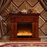 暖房(335)が付いている現代簡単な居間の家具の電気暖炉
