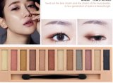 De los cosméticos estilo cosmético del embalaje nuevamente sobre maquillaje del sombreador de ojos
