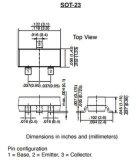 Transistor de fines generales electrónico del componente SMD (NPN) Mmbt4401