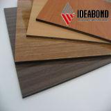 Preço do competidor do painel composto de alumínio de madeira exterior de Ideabond com alta qualidade (AE-308)