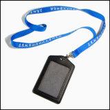 Дешевая напечатанная карточка удостоверения личности полиэфира/талрепы держателя вьюрка значка изготовленный на заказ для держателя удостоверения личности