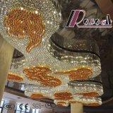 Lámpara decorativa moderna ambarina del cristal del proyecto del hotel de la buena calidad
