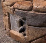 Pozzo di pietra del fuoco di gas di disegno per il patio domestico esterno