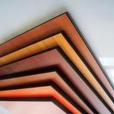 Painel decorativo da estratificação do estojo compato da folha da grão de madeira HPL de Fmh 12mm