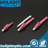 LC Om4のピンクの光コネクタ