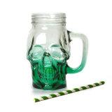 Tazza di vetro a forma di del cranio di alta qualità con paglia, vaso di muratore bevente