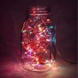 Batteriebetriebenes ferngesteuertes Weihnachtsstartwert- für zufallsgeneratordraht-Licht RGB-LED