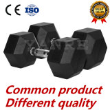 Gym Fitness Equipment Caoutchouc Coated Hex Dumbbell Personnaliser Logo Bonne qualité