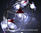 Mini luz do cobre do Natal do diodo emissor de luz 2017 com flor/boneco de neve/uso ao ar livre decoração de Crutchfor