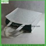 El bolso de compras biodegradable del papel que teje, crea el &Imprint para requisitos particulares es agradable