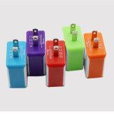 Doppel-USB-Wand-Aufladeeinheit mit EU-Au wir BRITISCHER Stecker für Mobiltelefon