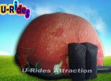 حمراء قابل للنفخ قبّة فلكيّة قبّة خيمة مع فراغ تغطية