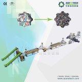 De Plastic Vlokken die van het afval en Machine wassen recycleren