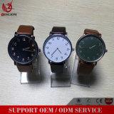 Yxl-742 2016 relojes de encargo del logotipo de la manera de los hombres venden al por mayor, cuero genuino del reloj, cuero de los hombres del reloj