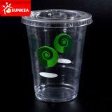 Taza plástica del Milkshake del Smoothie del animal doméstico transparente claro disponible