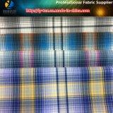 Полиэфир закрутил ткань рубашки, пряжу покрашенная ткань шотландки для рубашки