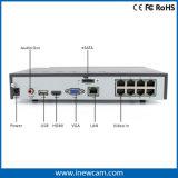 Alarma alejada 8CH 1080P Poe NVR de la seguridad del monitor