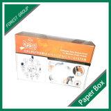 Weißer gewölbter Karton-Kasten mit Firmenzeichen-Drucken