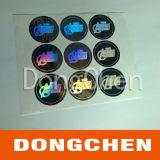 Autocollant d'étiquette d'emballage de cadeau hologramme