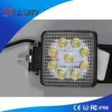 Lumière automatique de lampe de travail de la lampe 27W DEL de l'aluminium DEL pour la moto d'entraîneur