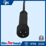 Cavo impermeabile femminile maschio nero del connettore di 3 Pin per illuminazione del LED