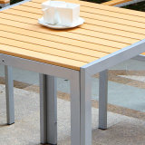 Стул рукоятки таблицы напольной мебели сада патио пластичный деревянный (J817)
