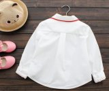 Form-weiße Hemd-kleine Mädchen Sprung u. Herbst-Baumwollhemd 100%