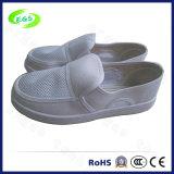 Ботинки холстины белого Cleanroom ESD работая (EGS-PVC-502)
