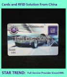 Jet d'encre polychrome en plastique de la carte RC80 de PVC de carte pour des affaires