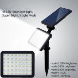 48 DEL imperméabilisent la lumière solaire actionnée solaire de jardin de lampe de mur d'éclairage extérieur de lumières de garantie