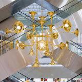 Sehr großer moderner hängende Lampen-Projekt-Leuchter des populäres Gold2017