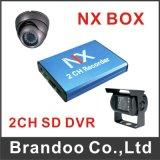 carro DVR DVR móvel do cartão de 2CH mini SD com áudio