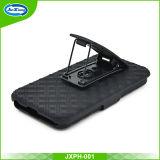 Venda quente 2 em 1 caixa combinado do Holster da corrediça de Kickstand do escudo para o iPhone 5c/5/Se com grampo da correia