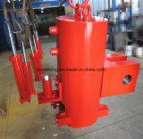 Cilindro hidráulico ativo dobro para o dispositivo do impulso e da tração