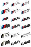 Emblema do emblema do lado traseiro do logotipo da série de potência de /// M do cromo do ABS