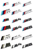 Metal Chrome /// M Power Grill Emblem Badge