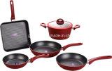 キシラン焦げ付き防止の上塗を施してあるアルミニウム鍋および鍋の調理器具セット