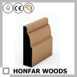 Moulage de bordage matériel en bois solide de décoration