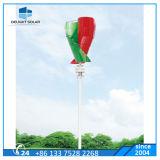 turbina di vento verticale delle lamierine del sistema di energia eolica di fuori-Griglia di asse 100W
