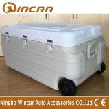 По-разному изолированный емкостью охладитель коробки льда вагонетки с колесом