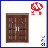 Double porte avec la porte d'acier de modèle de 8 panneaux
