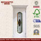 Entrée principale en bois extérieure en verre Tempered (GSP3-054)