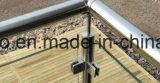 Abrazadera de cristal del cuadrado del acero inoxidable para la barandilla del pasamano de la escalera