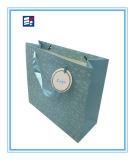 Bolso de papel de la maneta del embalaje de las ventas al por mayor con insignia de la aduana de la impresión