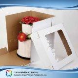 Rectángulo de torta de empaquetado de papel de la cartulina linda con la ventana (xc-fbk-041b)