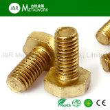 Messinglegierungs-Kupfer-Hex Hexagon-Kopf-Schraube (DIN933 DIN931)